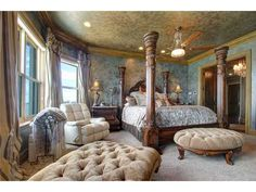 A royal-like bedroom equipped with a 4 post bed and lots of natural lighting. St. Pete Beach, FL Coldwell Banker Residential Real Estate