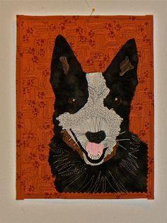 Bronco...portrait of the world's smartest dog by Nancy Arseneault