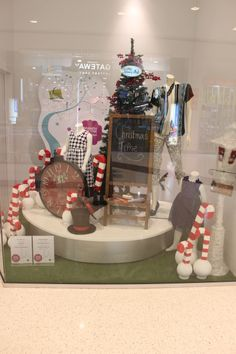 Children s Christmas Window Display featuring Best & Less clothing