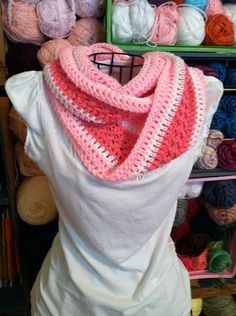 Breast Cancer Awareness Scarf breast cancer awarness crafts, awar scarf, corvettes, colors, dress, white shirts, cancer awareness, scarv, crochet pink
