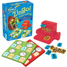 This new Zingo! game from ThinkFun helps children learn how to tell time on both digital and analog clocks.  This is a form constancy skill, because they are learning that the same time can be shown in different ways.