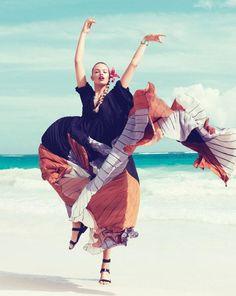 editori, floral prints, lets dance, paola kudacki, harper bazaar, fashion photographi, fashion photography, hailey clauson, march 2012