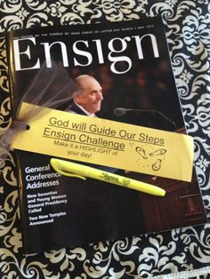 conference Ensign challenge - LOVE LOVE LOVE this idea!