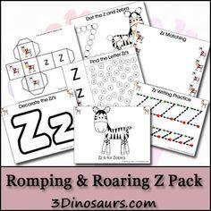 Romping & Roaring Z Pack - 3Dinosaurs.com