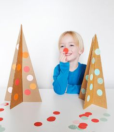 Easy DIY Cardboard Christmas Trees via Julep