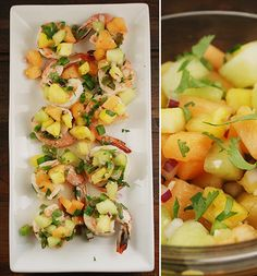 Paleo: spicy lime shrimp with fruity pico de gallo