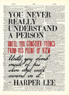 You never really understand a person