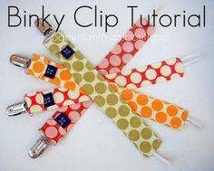 Binky Clip Tutorial