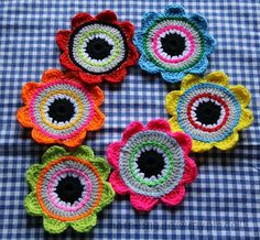 homemade@myplace: New flowery coasters for my dining table !!!