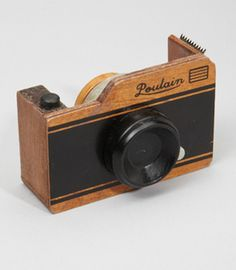 Wooden Camera Tape Dispenser - Love this for my office one day when i have one :)
