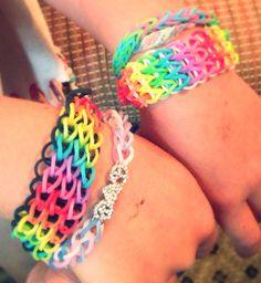 Triple! Rainbow loom bracelets