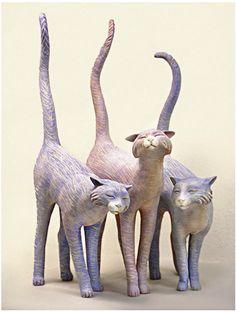 """""""Long Tail Toms"""" (clay, encaustic): Kelley S. Hestir"""