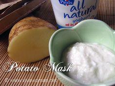 DIY Beauty: potato mask for mild skin discoloration