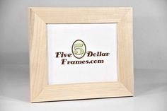 5DollarFrames.com - Light Unfinished Raw Poplar Wood Picture Frame, $6.00 (http://www.5dollarframes.com/new-items/light-unfinished-raw-wood-frame/)