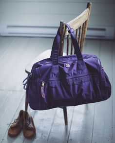 Shoes - check, clothes - check, shower gear - check. Packing a bag to go to the gym can be an art so we designed this duffel to help us get to our workouts with ease | Work It Out Duffel