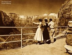 Zion National Park, circa 1955. Happy National Park Week!