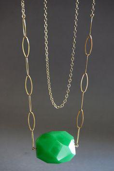 SALE Kamea necklace  long 14kt gold filled chain by kealohajewelry