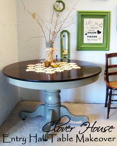 refinish idea- this is identical to the shape of the table I bought today for $30....CONT-TO ABOVE: I bough tthis table for over $500. and now want to re-do it! it is the Marchella from Pier One. The base is different, but same kinda basic look.