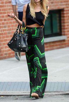 Crop tops + maxi skirts.