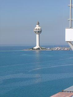 Vessel Control tower, Jeddah lighthouse Saudi Arabia  133 height