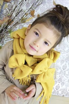 Refashion: Take a scarf and fold then turn into bows tutorial. Cute and easy gift to make