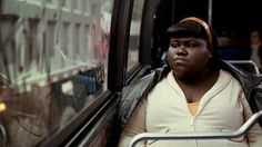 """Scene from drama film """"PRECIOUS"""" (2009);  and 'Chatter Busy':  Gabourey Sidibe  Quotes ."""