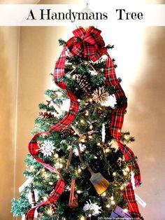 Handymans Tool Christmas Tree - Cute Idea!