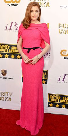 Amy Adams in pink Roland Mouret gown at Critics' Choice Awards