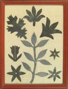 Tin quilting templates, 19th c., Pook & Pook
