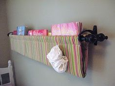 Book sling but do it with race car look for a boys room!