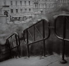 City of Shadows by Alexey Titarenko    The artist placed his Hasselblad camera near the entrance to the Vasilievostrovskaia subway station, and used a long exposure technique he picked up from 19th Century French photography.
