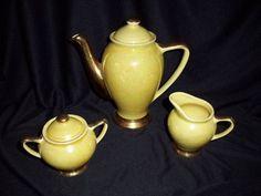 Vintage Lustreware Tea Set Pot Sugar Creamer