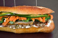 The Most Delicious Sandwiches : Pork and Pâté Vietnamese Sandwich (Banh Mi) may get idea for this to use with Sara Moulton's recipe.