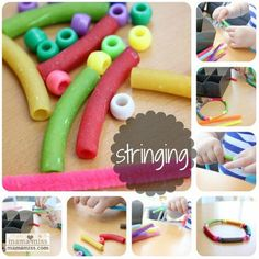 25 Pipe Cleaner activities (Beaded Bracelets with Pasta And Beads)