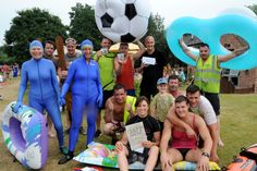 HUNDREDS of people descended on a South Derbyshire village to watch a raft race with a difference.