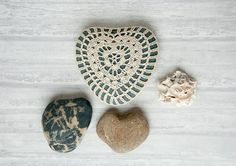 Etsy'sTableTopJewelsdoes terrific work with crochet stones. I love this heart-shaped one!