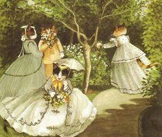 Susan Herbert: Femmes au jardin, (d'après Claude Monet).