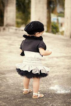 Fluffy baby skirt #diy