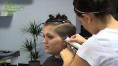 "extreme undercut hair makeover, clipper haircut women at die haarschneiderei ""alisha immesberger"""