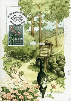 Inge Look's catcard with stamp she createdby ichabodhides, via Flickr