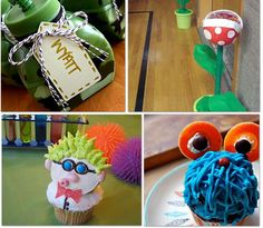 7.  Science Party – Amy threw such an amazing science party complete with how to make these fantastic cupcakes and free printables.