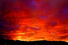 sunrise, Albuquerque, NM, 02/2011, looks like red hot lava :) Beautiful!