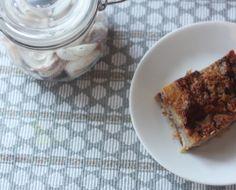 Nutella & banana brioche pudding