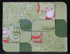 christma card, christmas cards, scrap happi, paper, fun christma, card secret