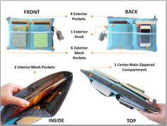 Slim Multi-Purpose Organizer with 13 Pockets (Blue) $12.95 A multi