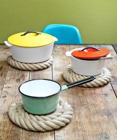 DIY Rope Coasters          - So Nice!