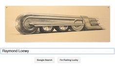 Industrial designer Raymond Loewy has been remembered by a Google Doodle on   the 120th anniversary of his birth