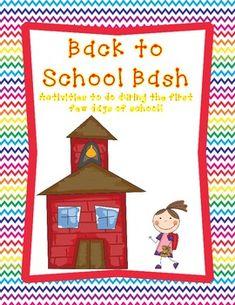 Back to School Activities for K-2!