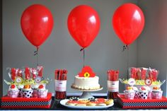 What little boy wouldn't want to be fireman for the day? #birthday #party