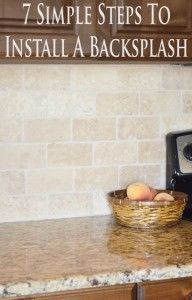 7 Simple steps to put in your own backsplash. Step by step tutorial.